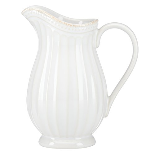Lenox French Perle Groove Pitcher, Mini, White (White Mini Creamer)