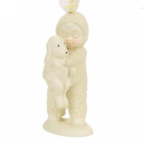 """Department 56 Snowbabies """"Puppy Love"""" Porcelain Ornament, 3.03"""""""