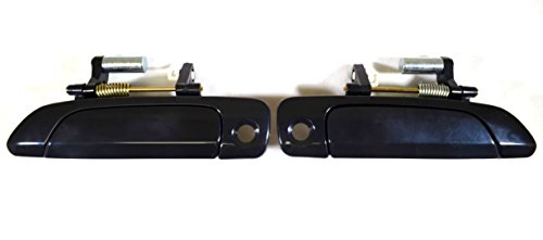 PT Auto Warehouse HO-3232S-FP - Outside Exterior Outer Door Handle, Smooth Black - Front Left/Right Pair