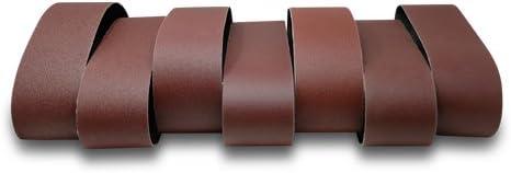 Brown Cloth Backing 120 Grit 36 Length 4 Width Aluminum Oxide Pack of 10 VSM 16570 Abrasive Belt Medium Grade