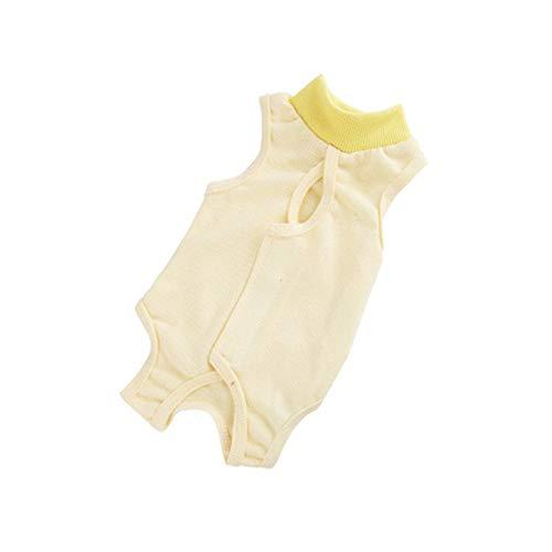 BLagenertJ Pet Female Cat Breathable Sterilization Suit Surgical Gown Ablactation Clothes - Yellow L -