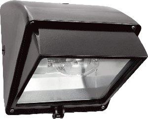 RAB Lighting WP1CSN100 WP1 Cutoff High Pressure Sodium Wallpack, ED17 Type, Aluminum, 100W Power, 9500 Lumens, 120V, Bronze Color