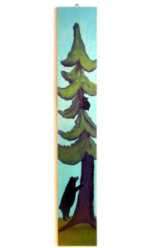 Black bears and tree growth chart, Baby & Kids Zone