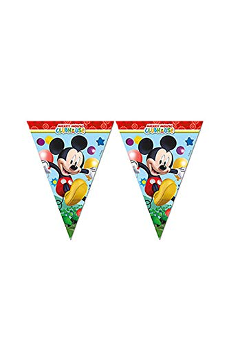 (Playful Mickey Mouse Party Flag Pennant Banner - 2.3 metres)