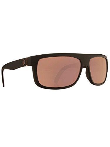 Dragon Alliance Wormser Matte Black Frame Sunglasses with Rose Gold Lens - Medium