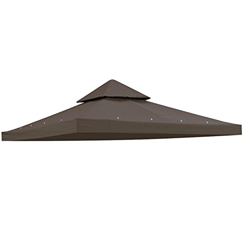 Koval Inc. 10'x10' Square Replacement Top for Canopy Gazebo (Coffee) (Cover Depot Kits Aluminum Patio Home)
