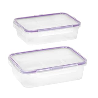 Snapware Airtight Plastic Food Storage Container (4-Piece, 4.5-Cup Containers, BPA Free, Meal Prep, Leak-Proof, Microwave, Freezer and Dishwasher Safe)