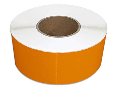"4"" x 6"" Thermal Transfer Shipping Label Roll Perforated, 3"" Core, Required Ribbon, 1000 Labels/roll (Orange, 4 Rolls = 1 Case)"