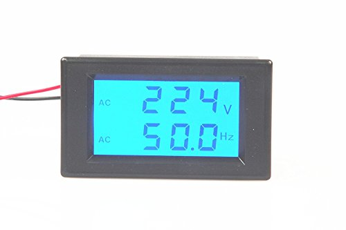 Digital Frequency Meter (LM YN Digital AC Voltmeter AC80-300V Frequency Counter 45.0-65.0HZ LCD Display Voltage Frequency 2 in 1 Meter Tester)