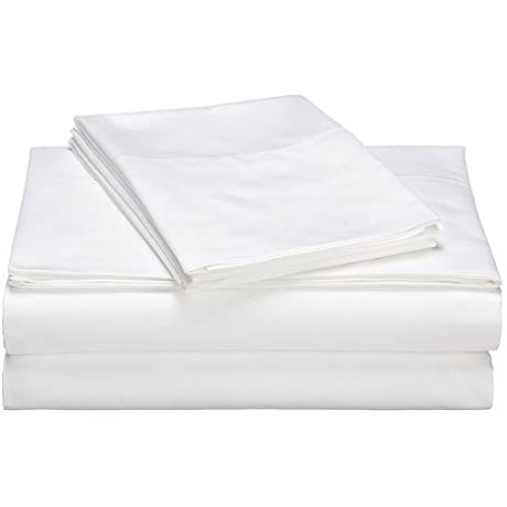 QBC Bundled Gotcha Covered Luxe Collection 100 Prct Cotton Sateen 618 Thread Ct Sheet Set W Smarty Bandzz Queen Up To 20 In Extra Deep Profile White Color Plus QBC EGuide