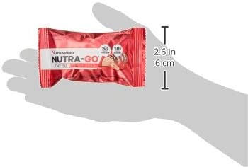 Nutramino Nutra-Go Cake Bar/Proteinriegel (10g Eiweiß, wenig Zucker) Strawberry Cheesecake Riegel, 1er Pack (16 x 38g)