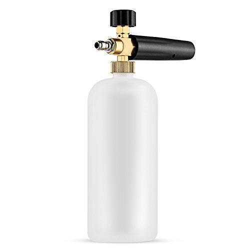 Quick 2 Mix Mixing Bottle - AUTOWN Foam Cannon - Snow Foam Lance with Adjustable Foam Spray Nozzle 1 Liter Bottle - 1/4