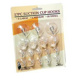 Suction Cup Hooks 17 Pcs Clear Silicon Metal Hook Glass Small Suction Hooks