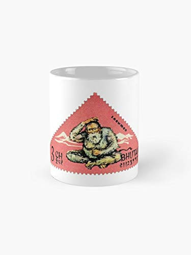 1966 Bhutan Abominable Snowman Postage Stamp Mug - 11oz Mug - Best gift for family friends