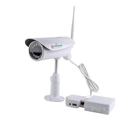 TriVision - Cámara de seguridad inalámbrica para exterior (visión noctura por infrarrojos, sensor de