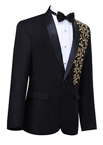 Partie Hommes Pièce Suit Schwarz Tuxedo Broderie Mariage Tailles Avec Confortables 1 George Jeu Vêtements De Blazer Yqzzxw