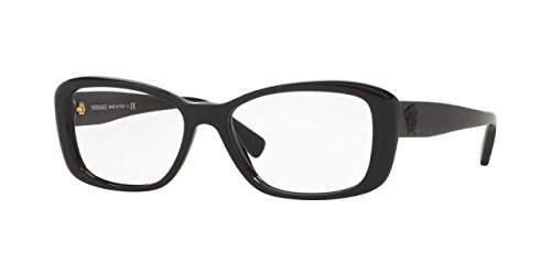 Versace VE3228 Eyeglass Frames GB1-54 - 54mm Lens Diameter Black - Eyewear Versace