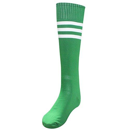 - Unisex Athletic High Knee Stripes Sports Running Football Soccer Tube Socks Sock