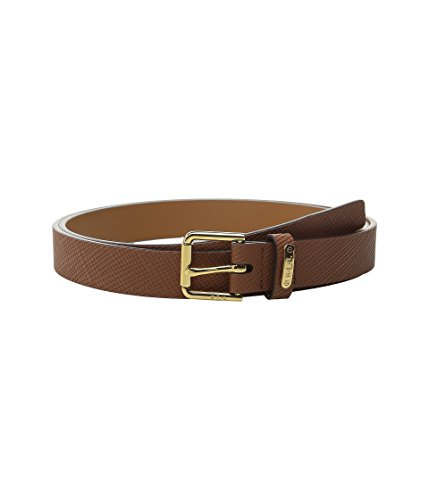 LAUREN Ralph Lauren Crosshatch Leather Endbar Belt (medium) (Lauren Ralph Lauren Leather C Buckle Belt)