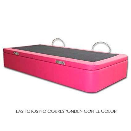 Ventadecolchones - Canapé Apertura Lateral Gran Capacidad Modelo Serena tapizado en Polipiel Azul Medidas 120 x 190 cm: Amazon.es: Hogar