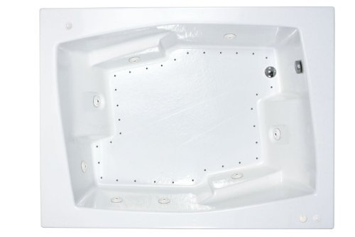 Atlantis Whirlpools 5472cdl Caresse Rectangular Air & Whirlpool Bathtub, 54 X 72, Left Drain, White from Atlantis Whirlpools