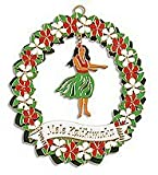 Hawaiian Hula Girl Christmas Ornament