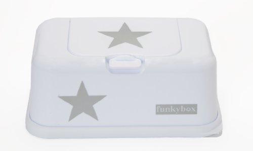 Funky Box - Feuchttücher Box Baby - Weiß mit grauen Stern