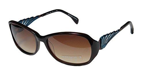 Koali 6999k Womens/Ladies Designer Full-rim Gradient Lenses Sunglasses/Shades (56-17-135, Dark Brown / - Koali Sunglasses