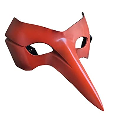 Marrol P5 Persona 5 Hero Goro Akechi Crow Mask Cosplay Prop Comic Con Halloween Party Masque Red FRP: Clothing