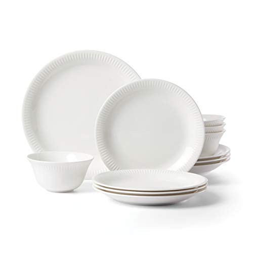 Lenox 893117 Profile 12-Piece Dinnerware Set White, 15.00 LB