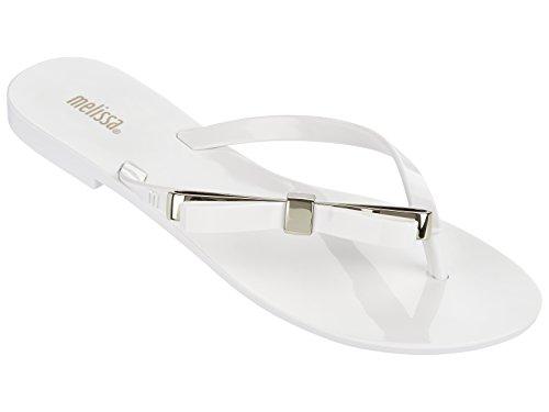 Sandals White Women Pvc New (Melissa Shoes Womens Harmonic Make A Wish White 10 M)