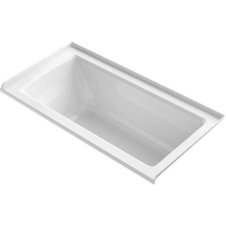 Big Save! KOHLER K-1946-R-0 Alcove Bath with Tile Flange and Right-Hand Drain, 60 x 30, White