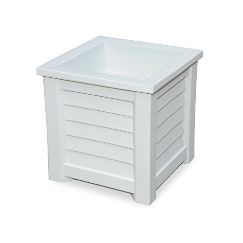 d Square Patio Planter, 16x16, White ()