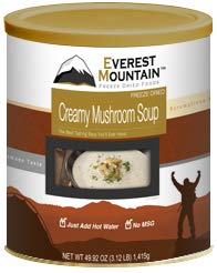 Fresh and Honest Foods Freeze Dried Creamy Mushroom Soup 49.92 OZ #10 Can