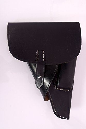 German WWII P-38 Softshell Black Leather Holster (Repro), used for sale  Delivered anywhere in USA