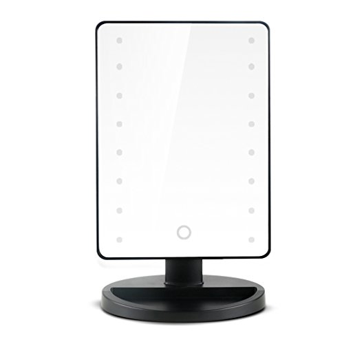 ALUS Desktop Makeup Mirror LED with Light Square Mirror Dressing European Mirror -