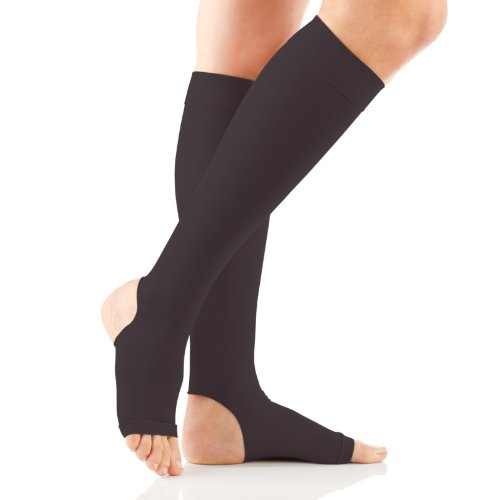 FootSmart Therapeutic Moderate Support and Open Heel Knee High Compression Hose