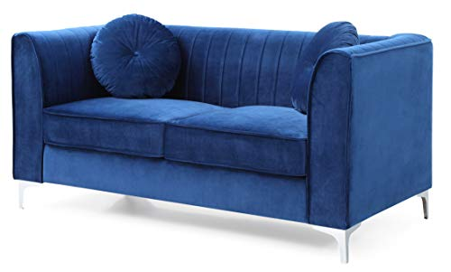 Glory Furniture Delray G791A-L Loveseat, Navy Blue. Living Room Furniture, 32
