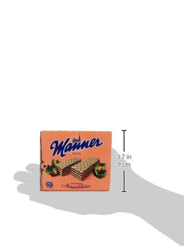 Manner Wafers Hazelnut Cream Filled Wafers, 2.54-Ounce (Pack of 12) by Manner