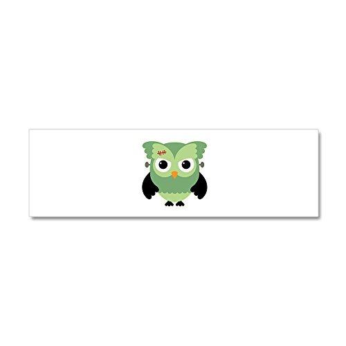 20 x 6 Wall Vinyl Sticker Spooky Little Owl Frankenstein Monster]()