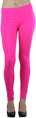 Women's Seamless Ankle Length Leggings - Hot Pink