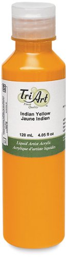 Tri-Art Finest Liquids Artist Acrylics, 120ml, Interference Blue