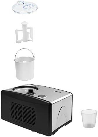 MEDION Eiscremebereiter & Yoghurt Maker, Joghurtmaschine, 1,5 Liter, 150 Watt, MD 18387
