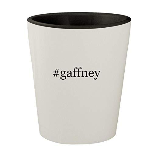 #gaffney - White Outer & Black Inner Hashtag Ceramic 1.5oz Shot Glass