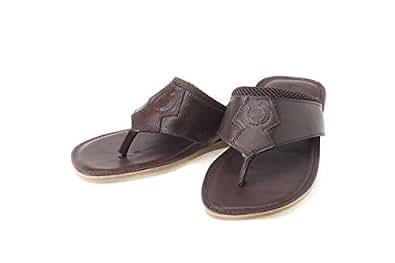 GasStone Brown Thong Slipper For Men