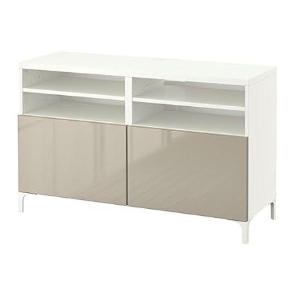 Incredible Amazon Com Ikea Tv Bench With Doors White Selsviken High Creativecarmelina Interior Chair Design Creativecarmelinacom