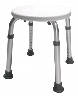 Pivit Adjustable Height Shower Stool | Bath Tub Seat for Bathroom Safety & Shaving | Rust-Proof Aluminum Legs Slip Resistant Rubber Tips | Heavy Duty & Lightweight Safely Sit & Shower Independently