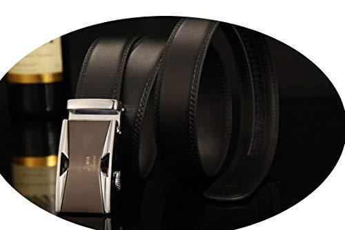 Belt Male Genuine Leather Strap Belts For Men Automatic Buckle black Belts Cummerbunds cinturon hombre,NE312 silvery,120cm 35to37 Inch