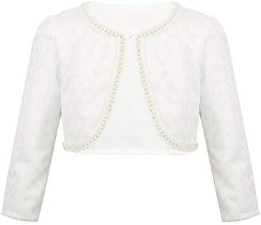dPois Girls Faux Fur Flower Girl Bolero Shrug Cardigan Coat Wedding Bridal Party Prom Dress Jacket