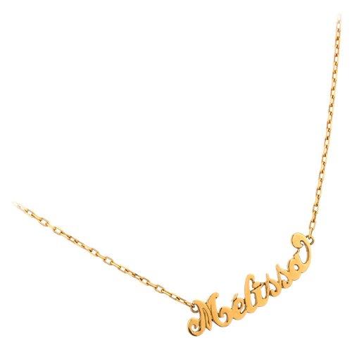 Orleo - REF10371BB : Collier Femme Or 9K jaune - Prénom au choix - Fabriqué en France